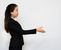 Business woman handshake Stock Images
