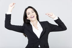 Business woman happy Royalty Free Stock Image