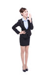 Business woman happy shouting Royalty Free Stock Photography