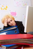 Business Woman has a headache Stock Photography