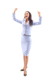 Business woman has her hands Royalty Free Stock Images
