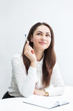 Business woman has thought up the idea Royalty Free Stock Photography