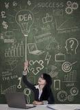 Business woman have got an idea Stock Photo