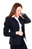 Business woman have a headache Stock Photography