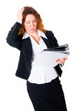 Business woman have a headache Stock Photos