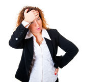 Business woman have a headache Royalty Free Stock Photo