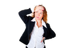 Business woman have a headache Royalty Free Stock Photography