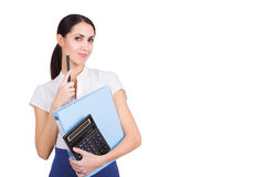 Business woman have a new idea Royalty Free Stock Photography