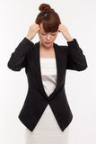 Business woman have stress and pain. Royalty Free Stock Photos