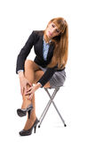 Business Woman having ankle pain Royalty Free Stock Images