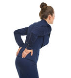 Business woman having back pain. High-resolution photo Stock Photo