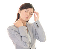 Business woman having headache Stock Image