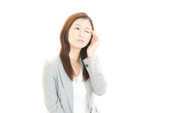 Business woman having a headache Stock Images
