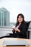 Business woman Having Her Breaktime Stock Images