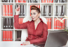 Business woman having idea Stock Images