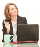 Business woman having an idea Stock Image
