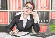 Business woman having idea Stock Photography