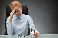 Business Woman Having Migraine Stock Photography