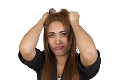 Business woman are having stress. Royalty Free Stock Images