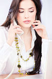 Business woman having a telephone call Royalty Free Stock Photos