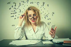 Business woman having troubles Royalty Free Stock Photo