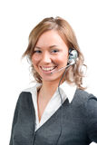 Business woman with head set Stock Photo