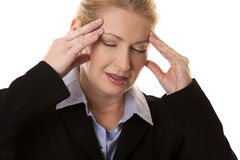 Business woman headache Stock Photos