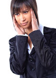 Business woman with a headache Stock Images
