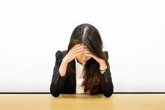 Business woman headache Stock Photo
