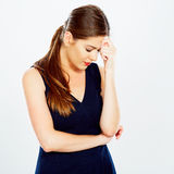 Business woman headache Royalty Free Stock Image