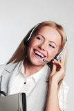Business woman in a headset Stock Photo