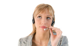 Business woman with headset. Stock Photography