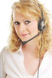 Business woman headset Royalty Free Stock Images