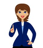 Business woman heaved up an index finger upwards Royalty Free Stock Photo