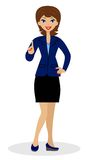 Business woman heaved up an index finger upwards Stock Images
