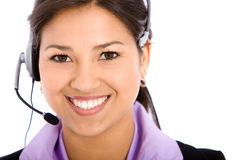 Business woman - helpdesk Royalty Free Stock Images