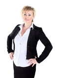Business woman in her 40s. Isolated on a white background Stock Image