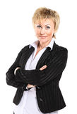 Business woman in her 40s. Isolated on a white background Stock Photography