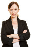Business woman with her arms crossed Royalty Free Stock Photography