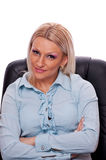 Business woman in her chair Stock Images