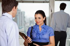 Business woman With Her Colleague Royalty Free Stock Images