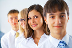 Business woman with her colleagues Royalty Free Stock Photo