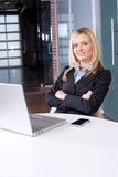 Business woman at her desk Royalty Free Stock Photography