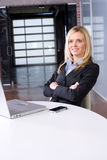 Business woman at her desk Stock Image