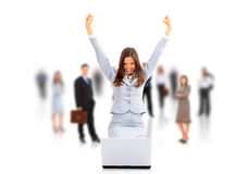 Business woman with her hands Royalty Free Stock Photo