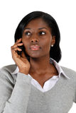 Business woman on the on her mobile phone Stock Photography