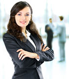 Business woman with her staff, people group Stock Images