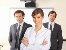 Business woman and her team. Stock Photo