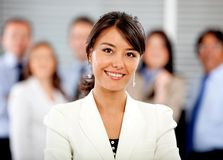 Business woman with her team Stock Photos