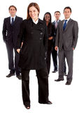 Business woman and her team Stock Image
